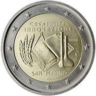 2 Euro SAN MARINO 2009 CREATIVIDAD Y INNOVACIÓN - UNC - NEUF - NUEVA - NEW 2€ EN SU BLÍSTER ORIGINAL - San Marino