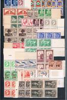 Lot 27 Blocs De 4 Neufs Sans Charnière Algérie Tunisie Nombreux Bords De Feuilles Fraicheur Postale . TB A Saisir - Collections