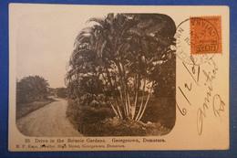 A44 GUYANNE BRITANNIQUE CARTE RARE 1905 POUR MARSEILLE FRANCE + AFRANCHISSEMENT PLAISANT - Brieven En Documenten