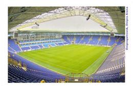 Postcard Stadium Dnipropetrovsk Ukraine Stadion Stadio - Estadio - Stade - Sports - Football  Soccer  BACKSIDE ALL WHITE - Fútbol