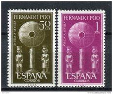 Fernando Poo 1963. Edifil 213-14 ** MNH - Fernando Poo