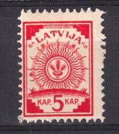 Latvia 1918, 5 Kap, Black Map, Michel 2 II, Mint Hinged. - Lettland