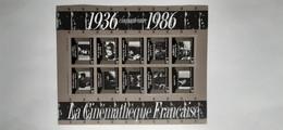 FRANCE 10 Timbres Neufs La Cinémathèque Française 1986 - Neufs