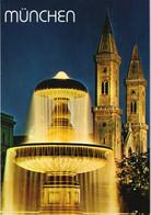 Ansichtskarte München Brunnen An Der Universität Mit Ludwigskirche 1997 - München