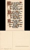 Ansichtskarte  Spruchkarte Gedichte - Goldbuchstaben 1923 - Filosofía & Pensadores