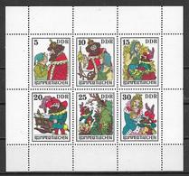 GERMANIA DEMOCRATICA DDR FOGLIETTI 1976 FIABE DEI FRATELLI GRIMM UNIF. 2187-2192 MNH XF - FDC: Hojas