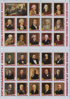 Fantazy Labels / Private Issue. History. Founding Fathers And Presidents Of The United States Of America. 2020 - Fantasy Labels