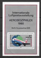 GERMANIA DEMOCRATICA DDR FOGLIETTI 1980 ANNIVERSARIO DEI SERVIZI INTERFLUG UNIF. BF 59 MNH XF - FDC: Hojas