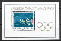 GERMANIA DEMOCRATICA DDR FOGLIETTI 1980 GIOCHI OLIMPICI A MOSCA UNIF. BF 60 MNH XF - FDC: Hojas