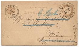 Hungary Postal Stationery 1886 Used Mezölaborcz Medzilaborce Slovakia - Non Classificati