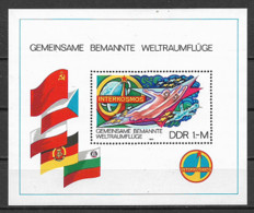 GERMANIA DEMOCRATICA DDR FOGLIETTI 1980 COLLABORAZIONE CON L'URSS UNIF. BF 58 MNH XF - FDC: Hojas