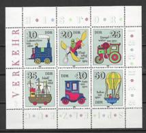 GERMANIA DEMOCRATICA DDR FOGLIETTI 1980 GIOCATTOLI ANTICHI UNIF. 2566-2571 MNH XF - FDC: Hojas