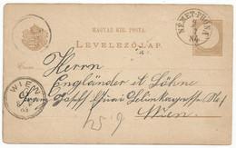 Hungary Postal Stationery 1883 Used Nemet-Prona Slovakia - Sin Clasificación