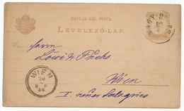 Hungary Postal Stationery 1886 Used Nagy-Bittse Bitca Slovakia - Sin Clasificación
