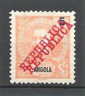 1911 ANGOLA DOUBLE OVERPRINT ERROR MICHEL: 89 MH * - Angola