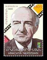 Armenia 2020 Mih. 1187 Cultural Figures. Cinema. Actor Hrachia Nersisyan. Space (RCC Joint Issue) MNH ** - Armenië
