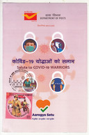 Stamped Info., COVID Warriors 2020, Health Disease, Workers, Job, Postman On Motorbike, Women, Mobile Telecom, Van - Other