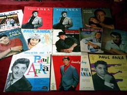 PAUL ANKA  °  COLLECTION  DE 13 / 45 TOURS - Collezioni