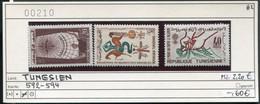 Tunesien - Tunisie - Michel 592-594 - ** Mnh Neuf Postfris - Malaria - Tunisia (1956-...)