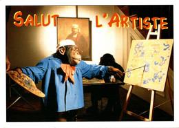 Singe Peintre Salut L'artiste       CPM Ou CPSM - Humor