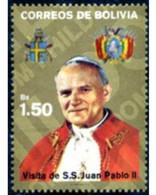 Ref. 292691 * MNH * - BOLIVIA. 1988. VISIT OF THE POPE JUAN PABLO II TO BOLIVIA . VISITA DE JUAN PABLO II A BOLIVIA - Bolivie