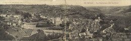 Carte Double CAYLUS Vue Panoramique Coté Sud Ouest  Recto Verso - Caylus