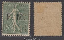 FM 15c Semeuse  Neuf * TB (Y&T N° 3 , Cote 80€) - Franchise Militaire (timbres)