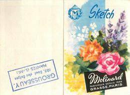 MOLINARD Sketch Parfum * Petit Calendrier Illustré 1962 * GROUSSEAU Nantes * Calendar Almanach Lafayette - Small : 1961-70