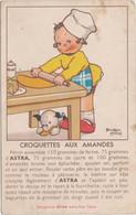 Recette Margarine Astra Extra-Fine Table - Croquettes Aux Amandes - Dessin Béatrice Mallet Illustrateur - Küchenrezepte