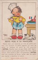 Recette Margarine Astra Extra-Fine Table - Petits Pois à La Française - Dessin Béatrice Mallet Illustrateur - Küchenrezepte