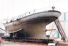 """Photo Ancienne Modele Bateau Découpe Du  Remorqueur """"  Robuste """" Lorient Franco Belge 1959 A 685 - Boats"""