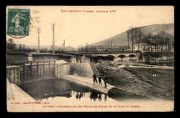 88 - REMIREMONT - LE CANAL D'ALIMENTATION DE L'ETANG DE BOUZEY ET LE PONT DU PRIEUR - Remiremont
