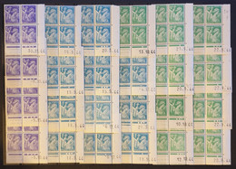 LOT - 124 COINS DATES - IRIS. Neuf ** - 1940-1949