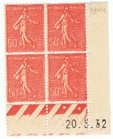50c Semeuse Lignée Yvert 199, BP Du 23-5-32, ** - 1930-1939