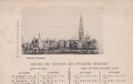 ANVERS - CA 1900 - Ponton - Heures Des Departs Des Teamer Wilford - Antwerpen