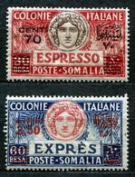 Z2323 ITALIA COLONIE SOMALIA 1926, Espresso, Serie Completa, MH*, Valore Catalogo Sassone € 40, Ottime Condizioni - Somalia