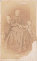 Photo Foto - Formato CDV - Madre Con Due Figlioletti - Years '1860 - - Anciennes (Av. 1900)