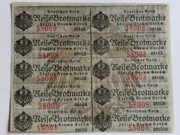 Ticket De Rationnement Pain Guerre 14-18 WWI Reise Brotmarke Für 40 Gramm Gebäck Deutsches Reich - 1914-18