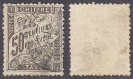 50c Taxe Duval Oblitéré TB  (Y&T N° 20 , Cote: 240€) - 1859-1955 Used