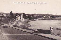 CPA GOLFE JUAN VUE GENERALE DE LA PLAGE - Altri Comuni