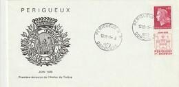 """Env. De """"Périgueux RP - 24, Dordogne"""" Du 14-06-1970, Sur YT 1643 - Oblitération Très RARE !! - Manual Postmarks"""