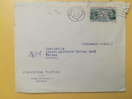 1965 BUSTA INTESTATA ITALIA ITALY  BOLLO UIT TELECOMUNICAZIONI ANNULLO OBLITERE' ROMA PER GERMANY - 1961-70: Poststempel