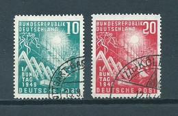 1949 West-Germany Complete Set 1. Bundestag Used/gebruikt/oblitere - Used Stamps