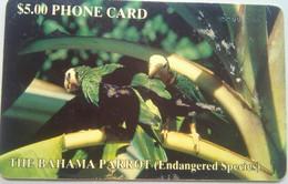 Bahamas $5 Parrot (with White Number No Box Variety) - Bahamas