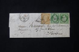 FRANCE - Lettre De Vitry Le François Pour Paris En 1860,Napoléon 5ct En Paire + 10ct, PC 3661 - L 83377 - 1849-1876: Classic Period