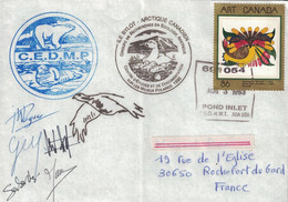 CANADA - MISSION ARTIQUE - ILE BYLOT - 1993 - AVEC CARTE DU PROJET BYLOT 93 - CACHETS ET SIGNATURES DIVERSES. - Otros