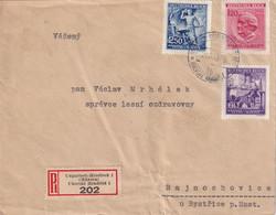 BOHEME ET MORAVIE 1943   LETTRE RECOMMANDEE DE HRADISCH AVEC CACHET ARRIVEE - Covers & Documents