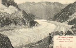 Al Monte Blanco La Mer De Glace Veduta Dal Tacul Recto Verso - Chamonix-Mont-Blanc
