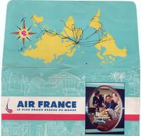 V12 65Sb   Aviation Air France Pochette De Billets D'avion Années 60 - Other