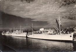 """Messageries Maritimes.  Les Paquebots """"Maréchal-Joffre"""", """"Félix-Roussel"""", """"Laos"""" Et """"Viet-Nam"""" à Quai à Marseille - Passagiersschepen"""